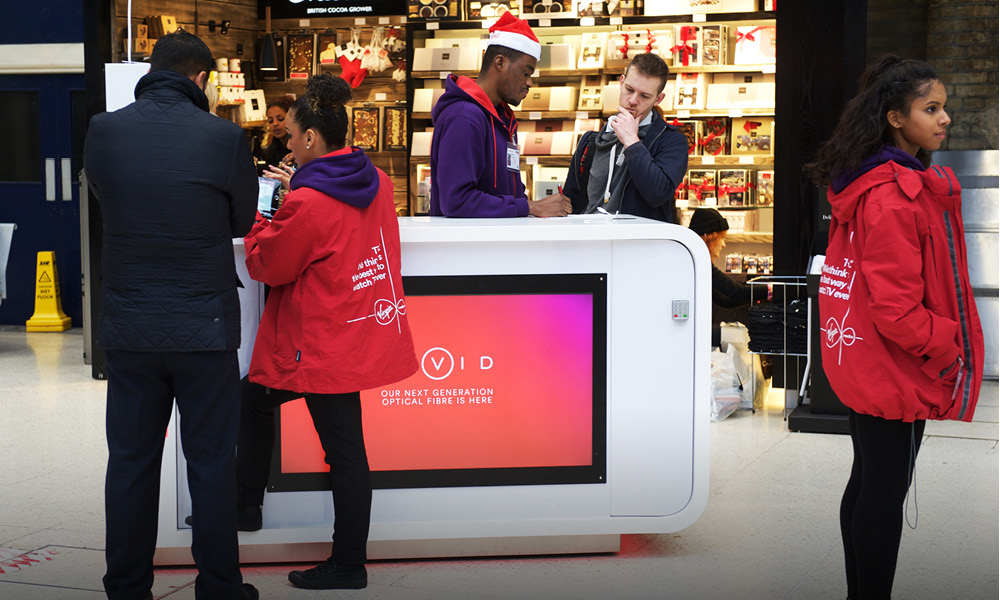 SpaceandPeople has a network of mobile promotions kiosk in shopping centres, garden centres and train stations
