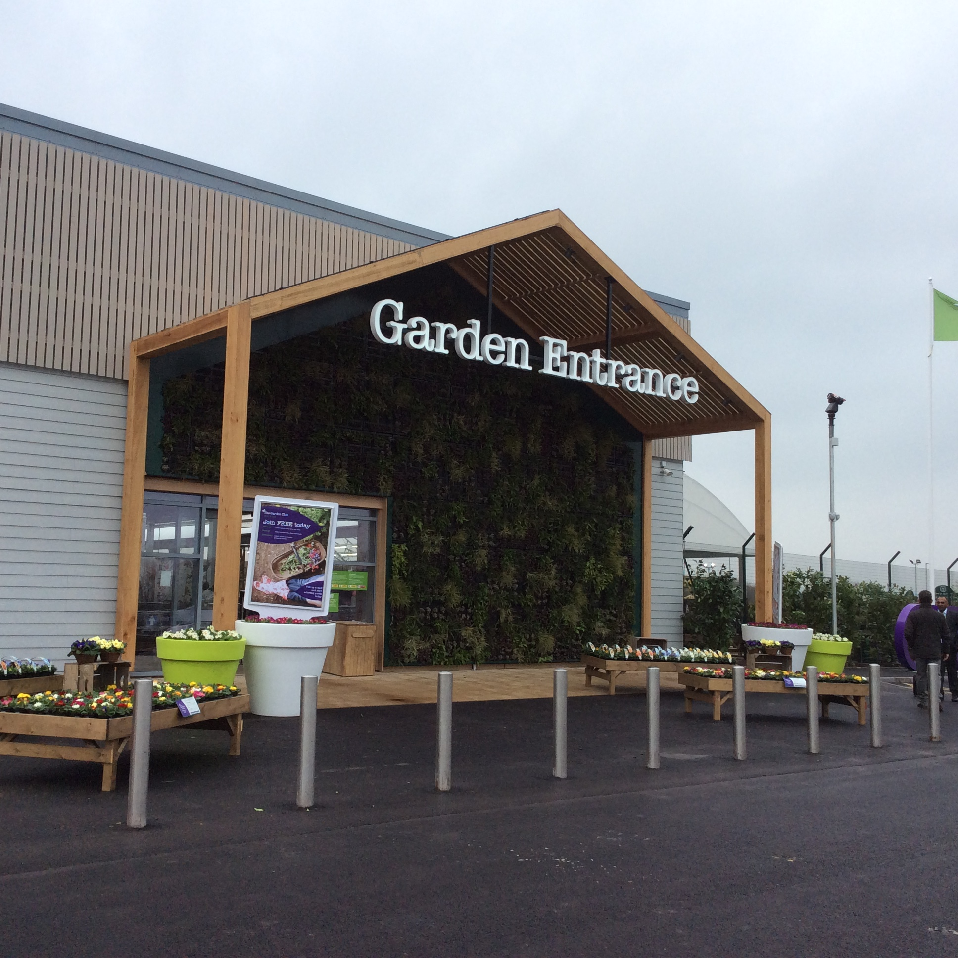 Promotional space in garden centres