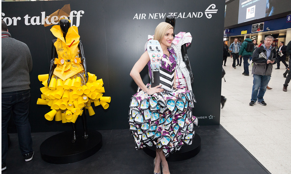 Air New Zealand pop-up experiential activity in London's Kings Cross Network Rail Station
