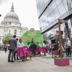 Pop up promotional activity in Central London