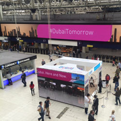 Promotion by Dubai Tourism at London Waterloo