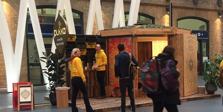 Pukka Teas Promotion in Kings Cross Station
