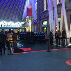 Kat Von D experiential activity at King's Cross Station