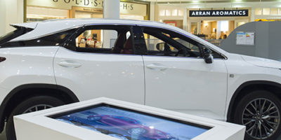 Lexus car promotion at Buchanan Galleries Glasgow