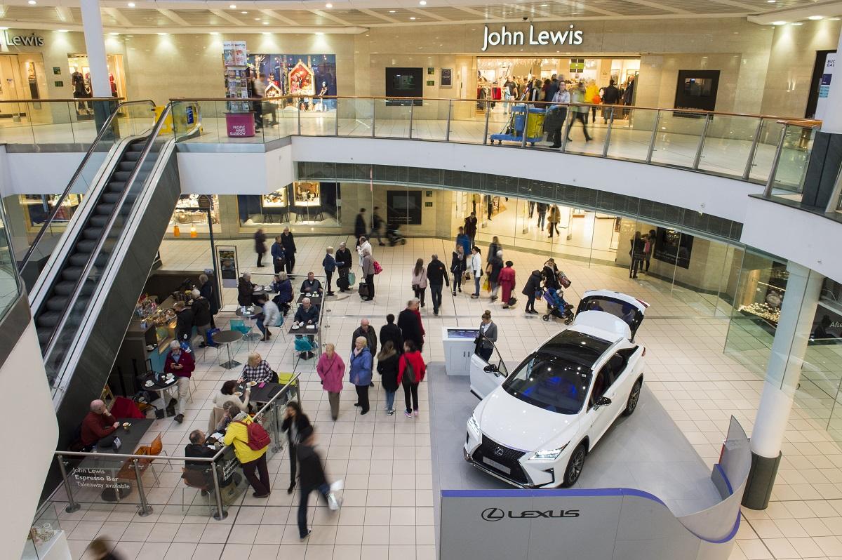 Lexus Returns To Buchanan Galleries Spaceandpeople Plc