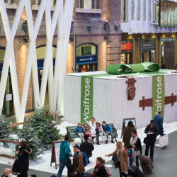 Waitrose experiential seasonal activation for Christmas at King's Cross Train Station