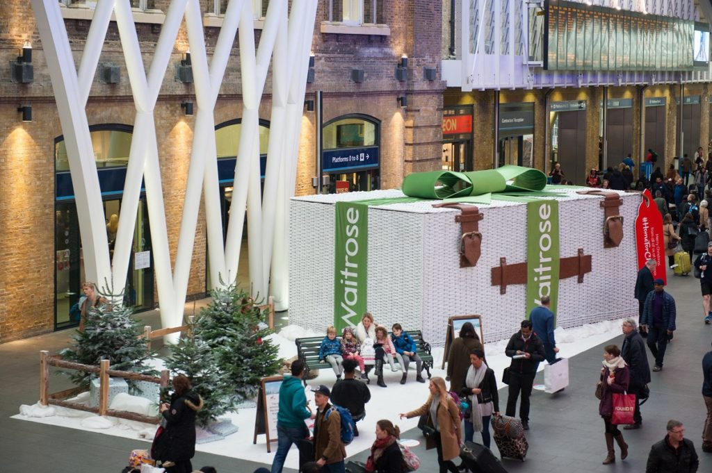 Waitrose experiential seasonal activation for Christmas