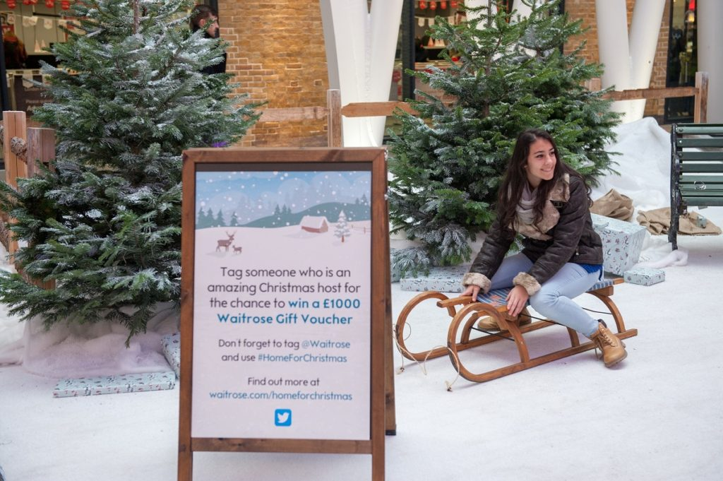 Waitrose experiential seasonal activation for Christmas at King's Cross Railway Station