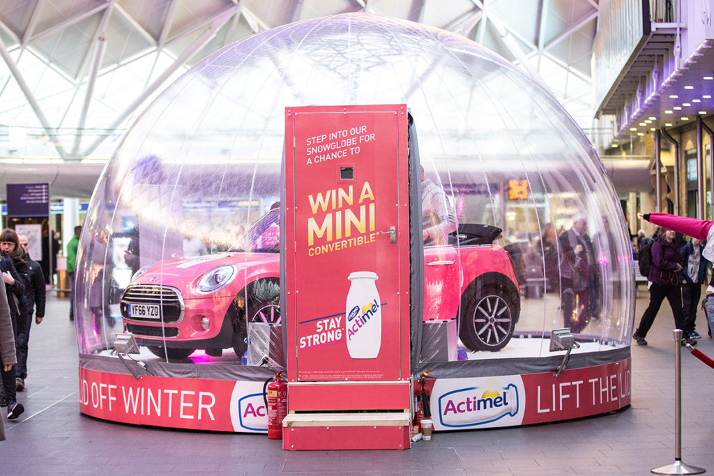 Actimel promotion at Kings Cross Station