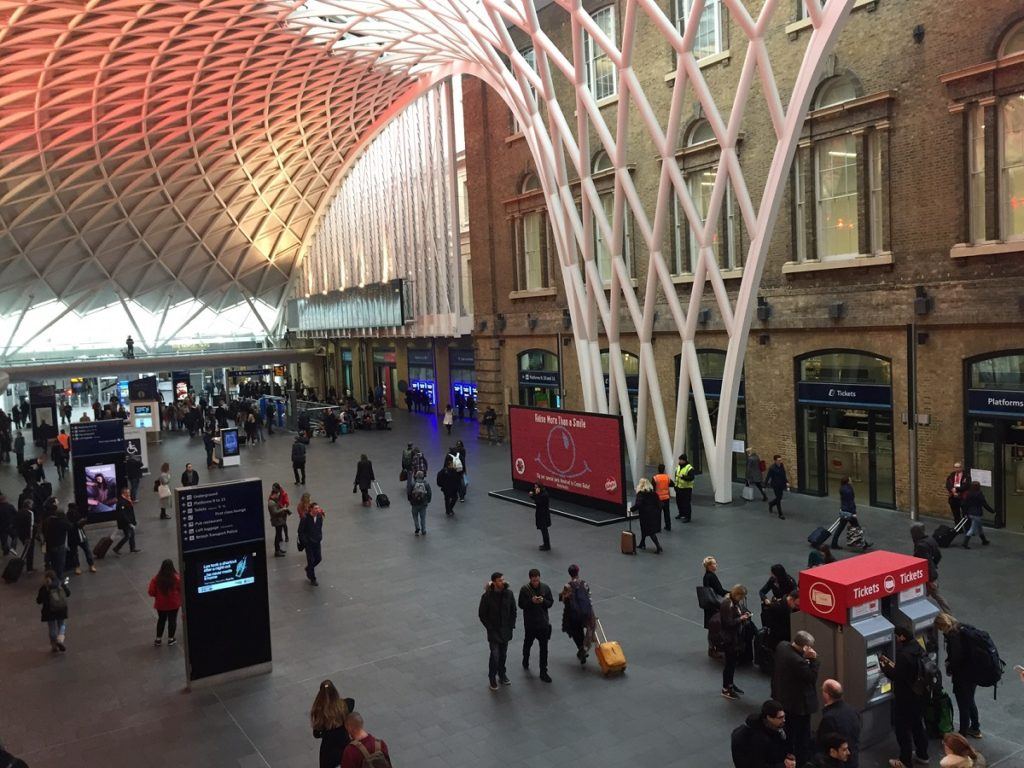 Mini Babybel for Red Nose Day at King's Cross Station