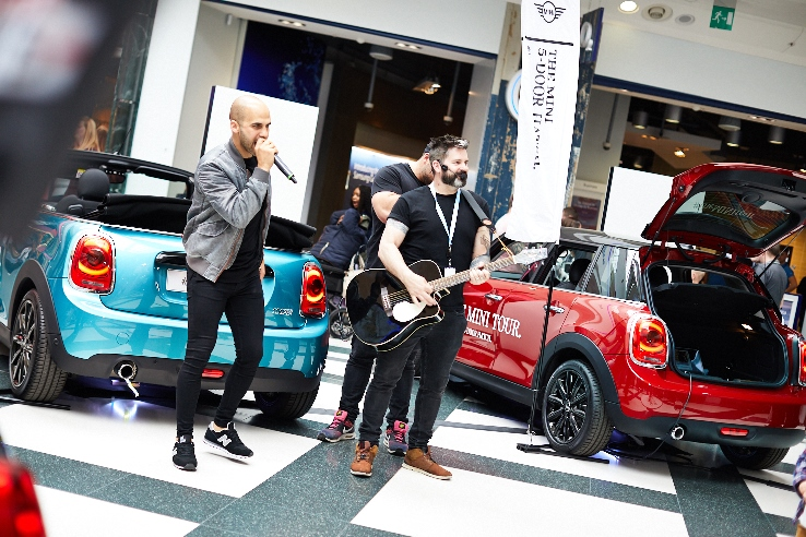 Three-piece beatbox act DUKE at White Rose Shopping Centre