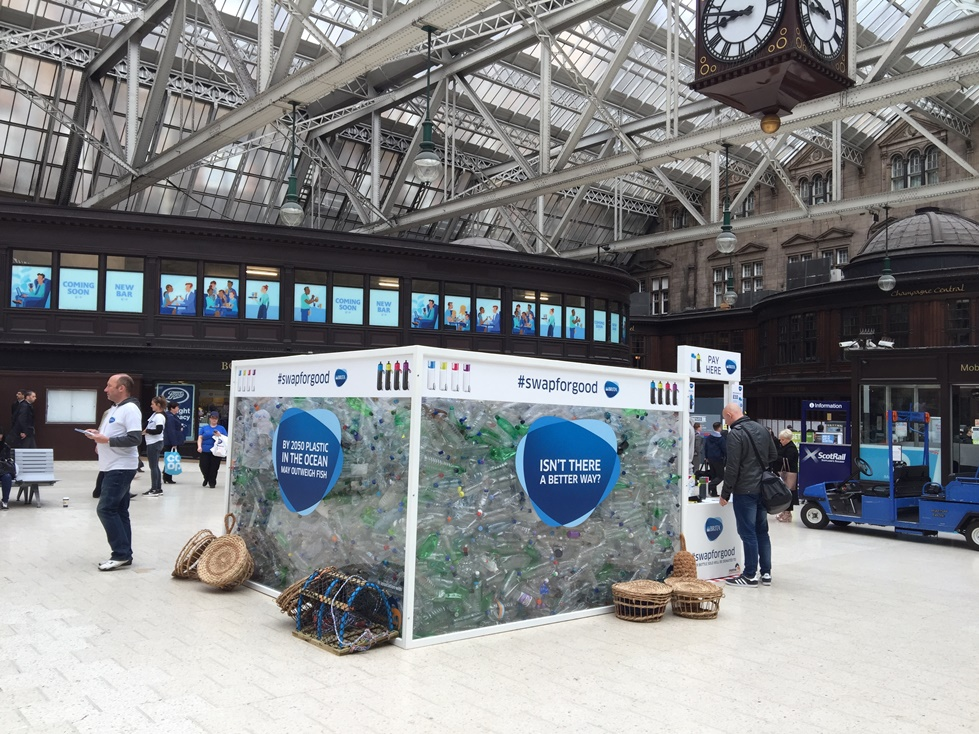Brita #Swapforgood Campaign in Glasgow Central