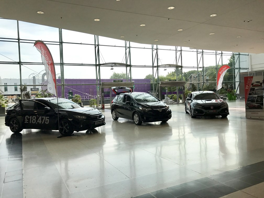 Brayleys Honda car promotion at The Galleria, Hatfield