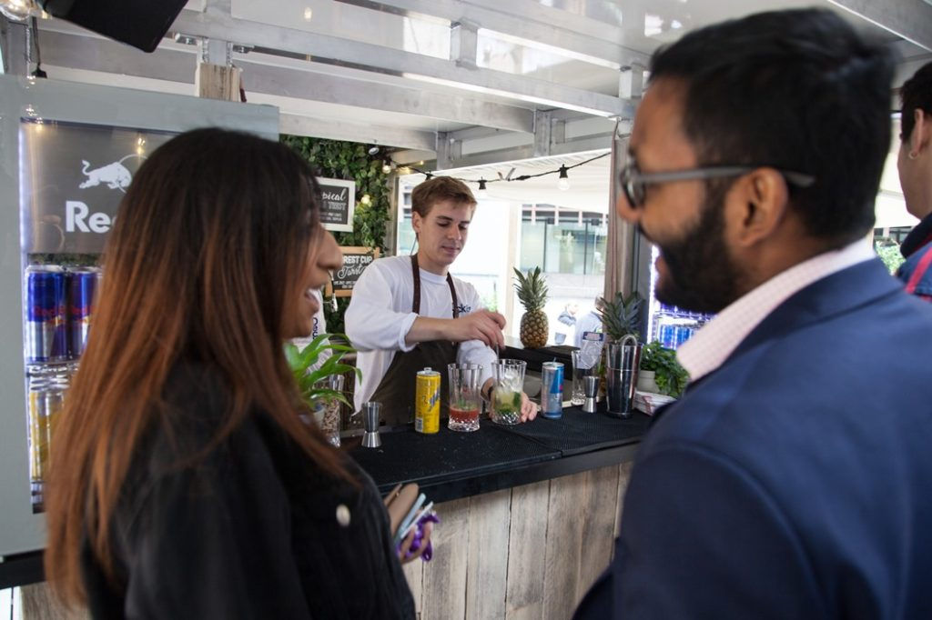 Deck87 Pop-Up Bar by REd Bull at Broadgate