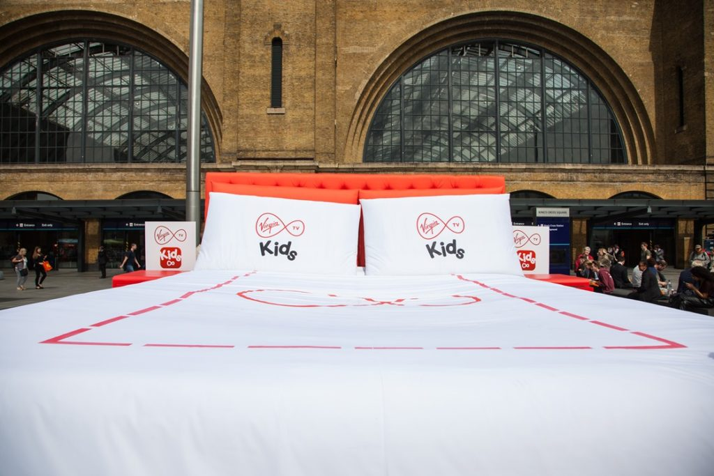 Virgin Kids Experiential Activation at King's Cross Station