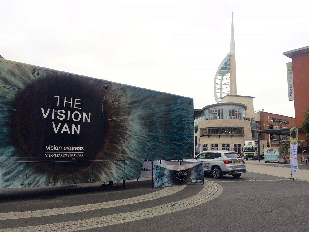 The Vision Express Vision Van at Gunwharf Quays