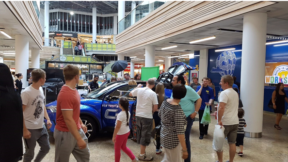 Burrows Motor Company Car Promotion at Meadowhall
