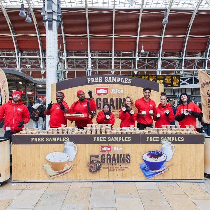 Muller at Paddington Station on sampling tour