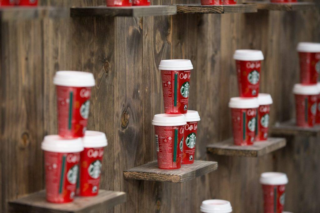 Starbucks experiential sampling at Kings Cross