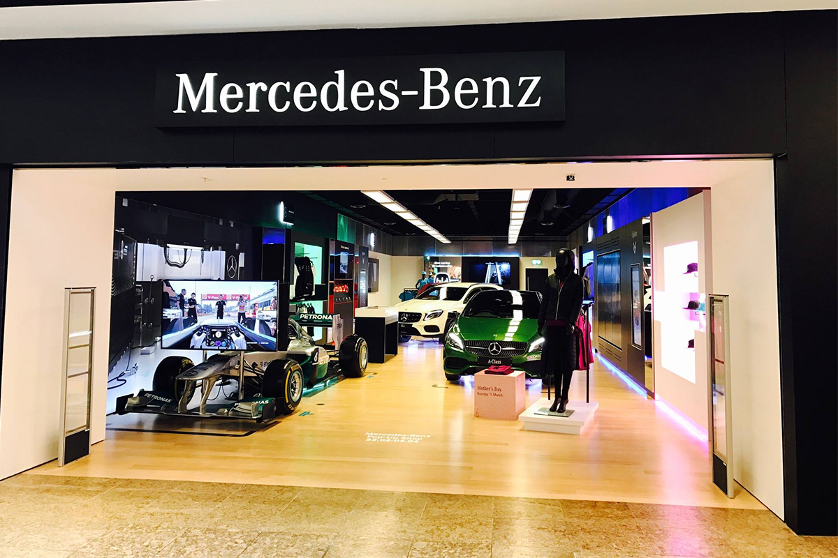 mercedes benz opens pop up shop in meadowhall. Black Bedroom Furniture Sets. Home Design Ideas