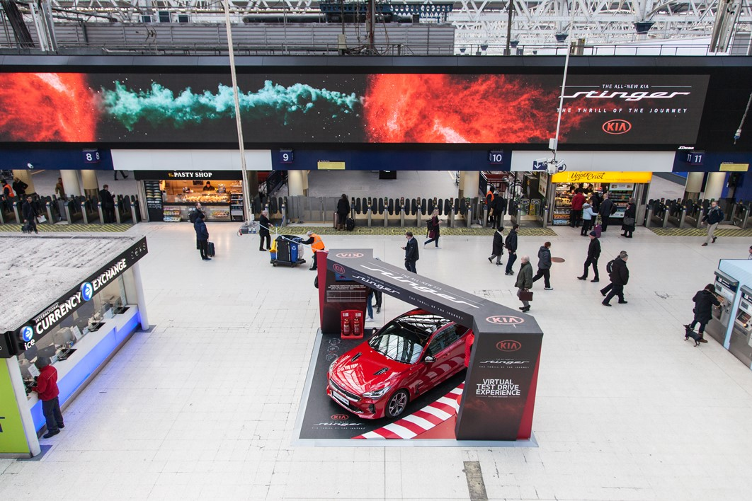 Kia Immersive Campaign at Waterloo with Experiential Stand