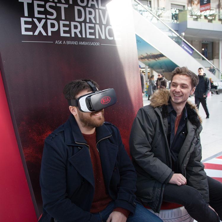 Kia Immersive Campaign at Waterloo