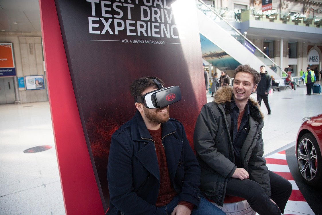 Kia Immersive Campaign at Waterloo with VR Experience