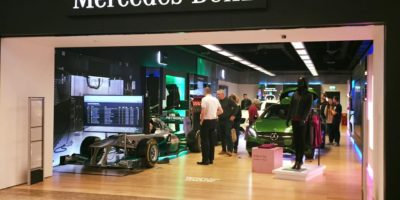 Mercedes Benz Pop-Up Shop Meadowhall