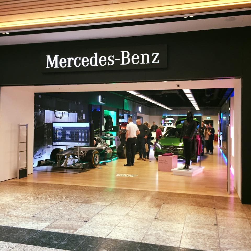 Mercedes Amg Petronas >> MERCEDES-BENZ OPENS POP-UP SHOP IN MEADOWHALL | SpaceandPeople