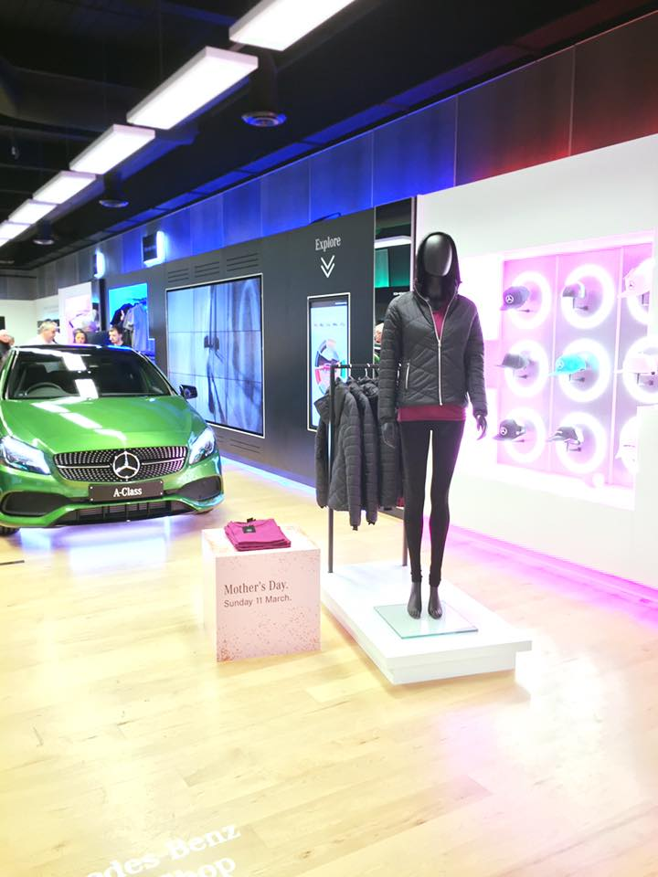 Mercedes Benz Pop-Up Shop Meadowhall with simulator experience