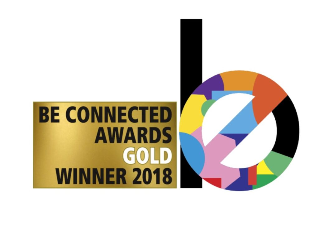 BE Connected Awards Gold Logo for Experiential Venue Team Of The Year
