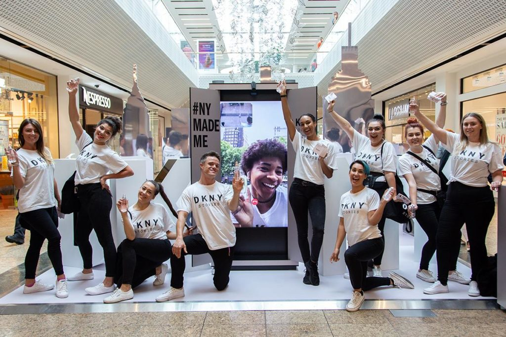 DKNY Stories Experiential Sampling Promotion at Meadowhall