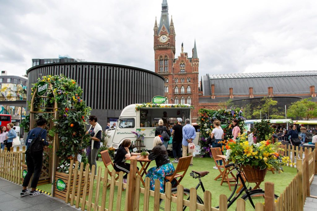French cordial brand Teisseire pop-up cocktail experience at London King's Cross Station