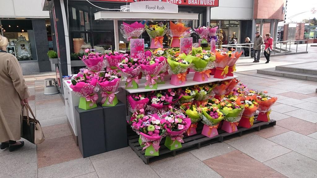 Floral Rush POP Retail Kiosk at Ayr Central Shopping Centre