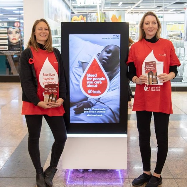NHS Blood & Transplant encouraging new blood donors
