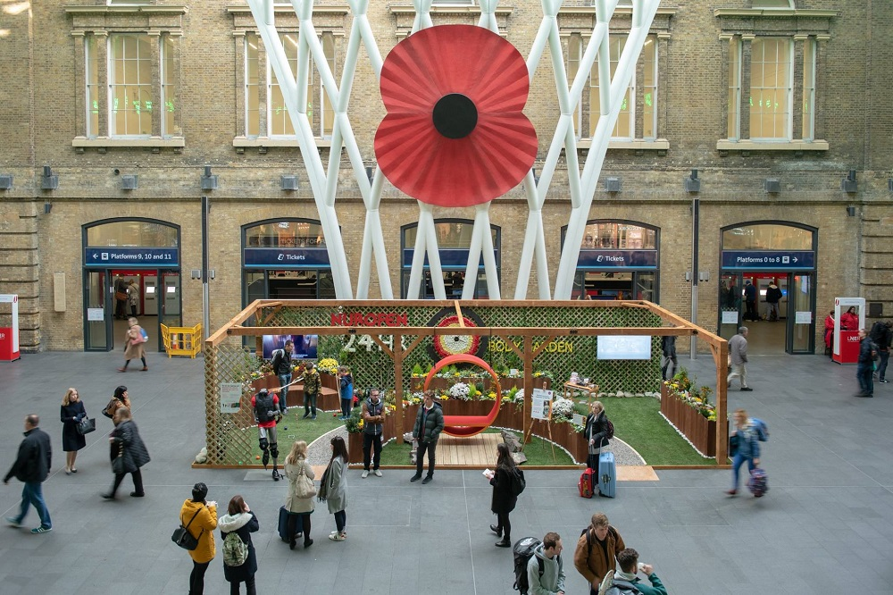 Nurofen Know More Pain Body Garden at King's Cross Station