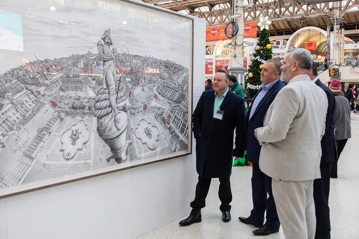 Paul Hiles Exhibition at Victoria Train Station for Macmillan Cancer Support