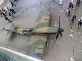 Spitfire at London Bridge Network Rail Station for D-day 75th anniversary