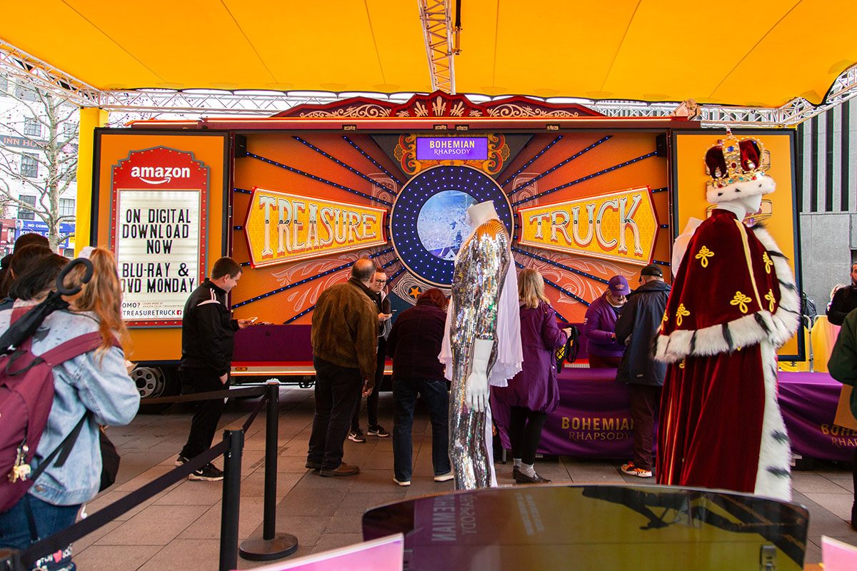 Amazon Bohemian Rhapsody Truck Central London