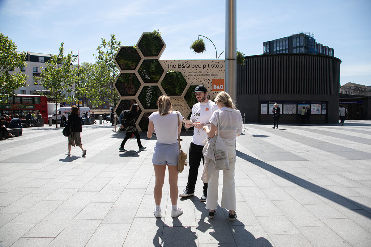 B&Q Bee Activation London