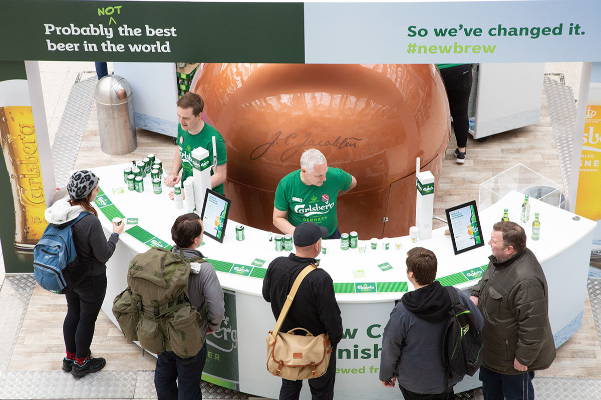 Carlsberg Honest Beer Campaign Central London