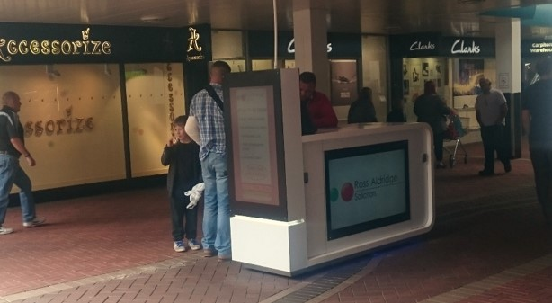 SpaceandPeople Mobile Promotions Kiosk at Cwmbran Shopping Centre
