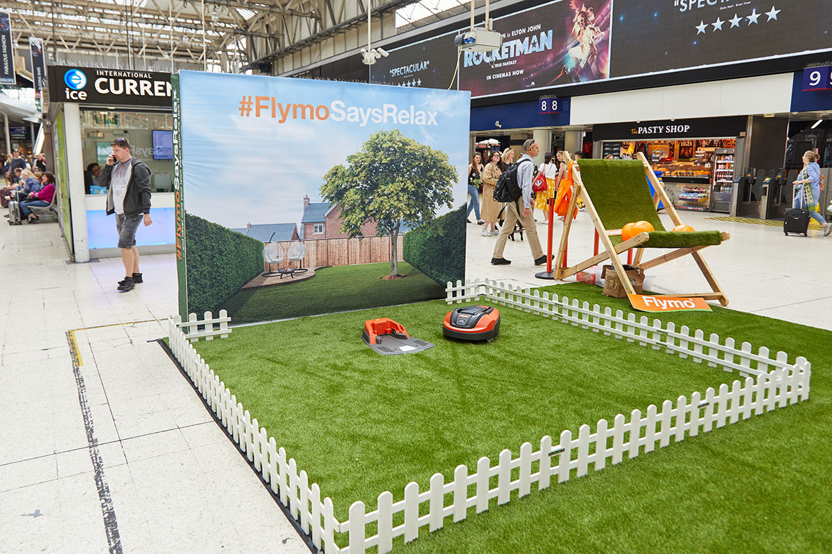 Flymo lawnmower launch in Central London