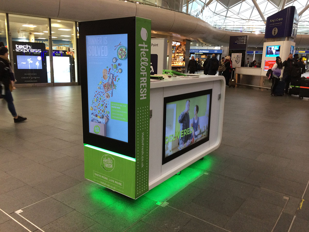 Hello Fresh Advertising Campaign Central London