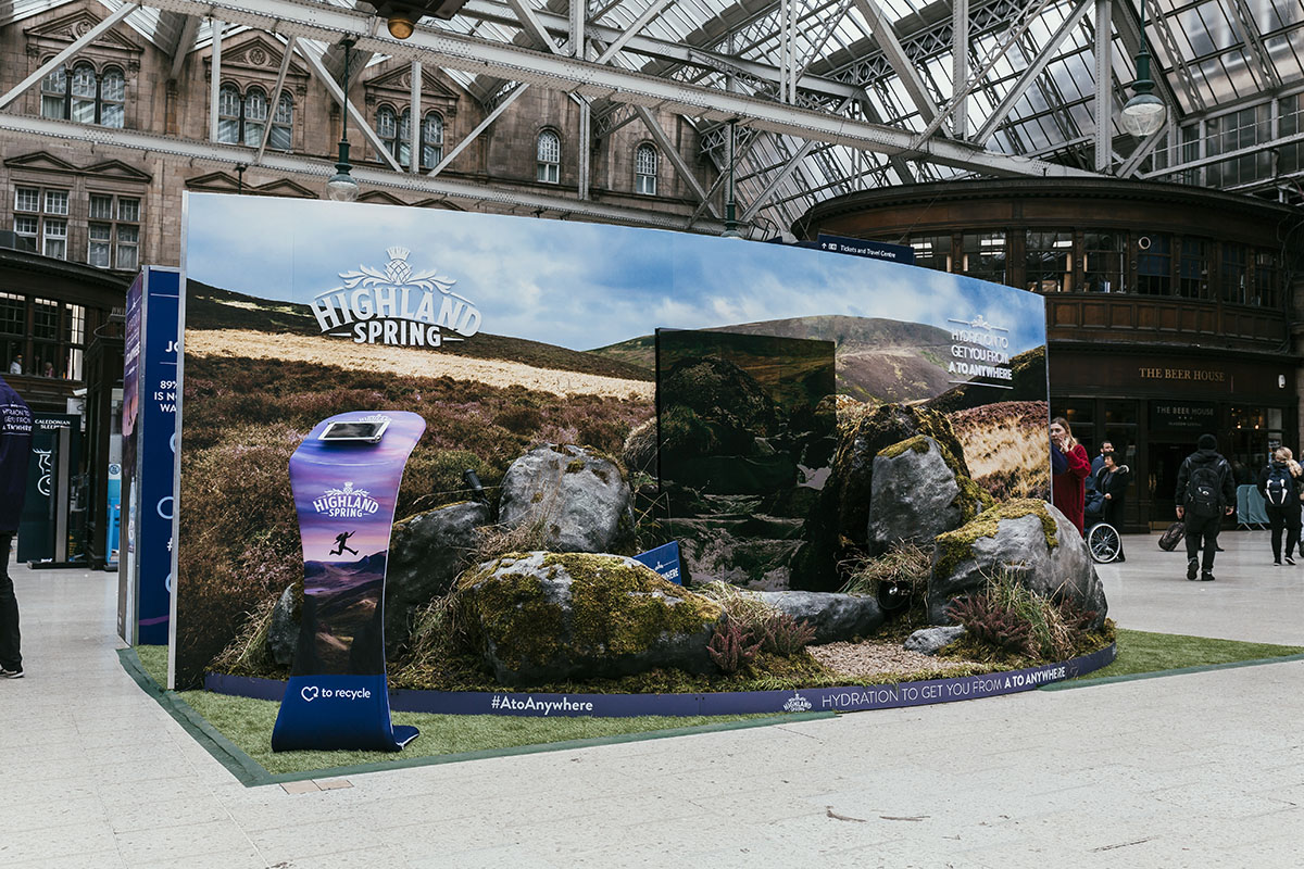 Highland Spring Marketing Campaign Central Glasgow