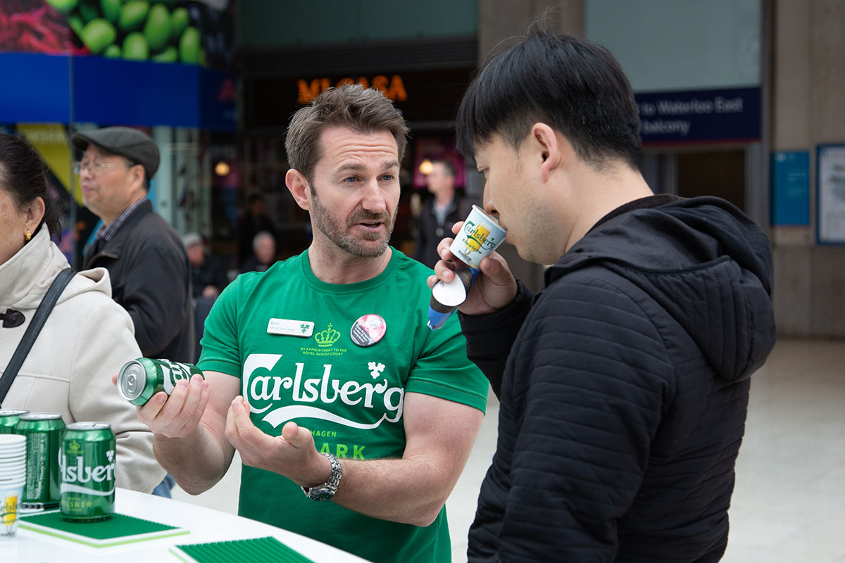 London Waterloo Carlsberg Avtivation Campaign