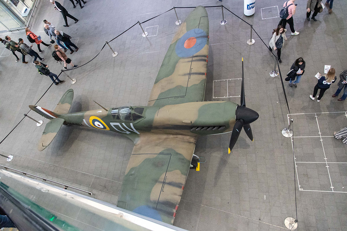 Spitfire for Veterans Day London Bridge Train Station.