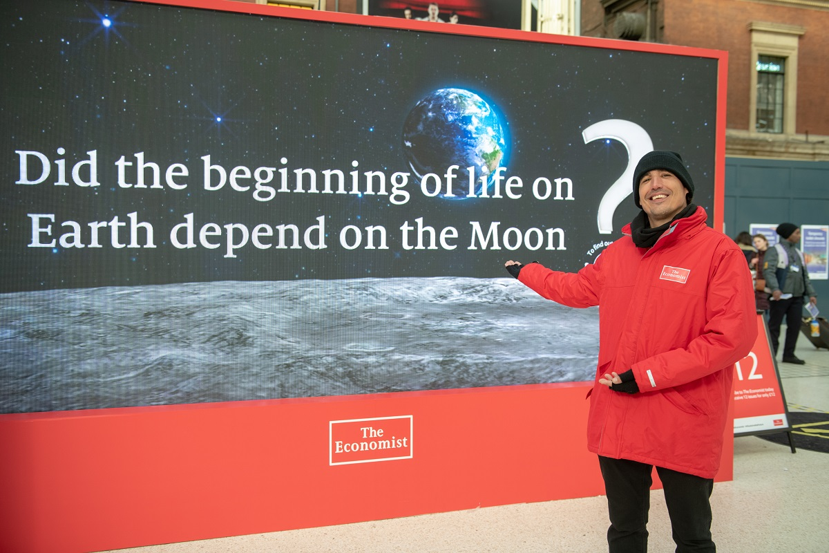 An example question from the experiential marketing campaign