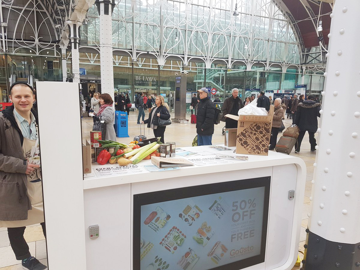 Gusto Activation Central London Train Station