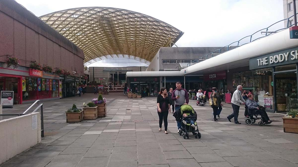 Cwmbran Shopping Centre Wales